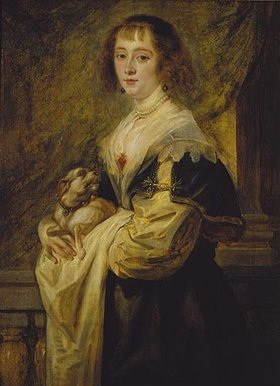 Peter Paul Rubens: Bildnis einer Dame mit einem kleinen Hund