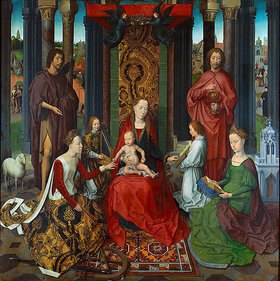 Hans Memling: Die mystische Vermählung der Heiligen Katharina