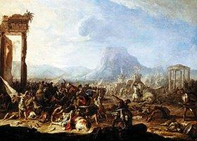 Johann Heinrich von Schönfeld: Schlachtenbild (Pyrrhusschlacht?)