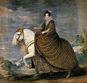 Diego Rodriguez de Velazquez: Isabella von Bourbon (Gemahlin Philipps IV.) zu Pferde