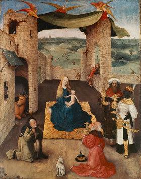 Hieronymus Bosch: Anbetung der Könige. Um 1470?