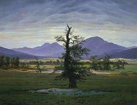 Caspar David Friedrich: Der einsame Baum (Dorflandschaft bei Morgenbeleuchtung) (Pendant zu Bildnummer 1433)