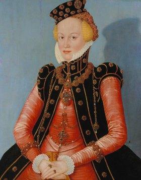 Lucas Cranach d.J.: Bildnis einer Dame (Markgräfin Elisabeth von Ansbach-Bayreuth?)