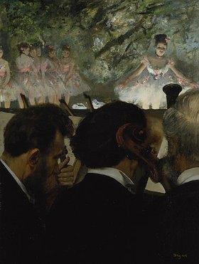 Edgar Degas: Musiciens a l'Orchestre