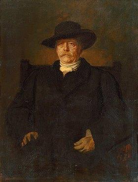 Franz von Lenbach: Bildnis Otto von Bismarck in Zivil mit breitkrempigem Hut