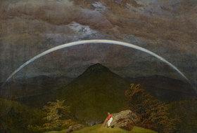 Caspar David Friedrich: Gebirgslandschaft mit Regenbogen