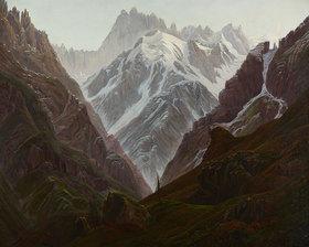 Carl Gustav Carus: Hochgebirge. Kopie nach Caspar David Friedrich