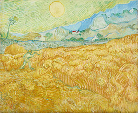 Vincent van Gogh: Die Ernte, Kornfeld mit Schnitter (La moisson)