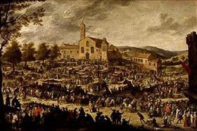 David Teniers: Jahrmarkt vor S.Maria dell'Impruneta bei Florenz (nach Callot)