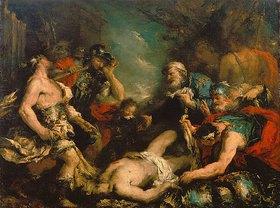 Francesco Guardi: Alexander der Grosse an der Leiche des Perserkönigs Darius