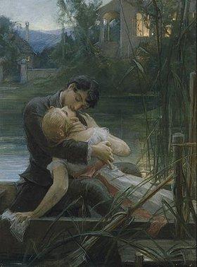 Maximilian Pirner: Liebespaar im Kahn