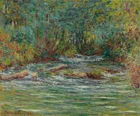 Claude Monet: Der Fluss Epte in Giverny