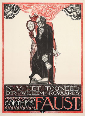 Richard Roland 1868-1938 Holst: Plakat für Goethes Faust
