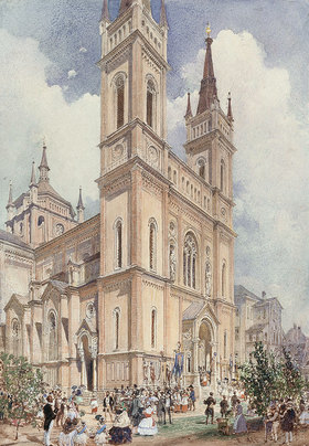 Rudolf von Alt: Altlerchfelder Kirche in Wien