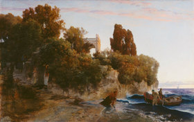 Arnold Böcklin: Schloss am Meer (Mord im Schloss)