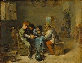 Adriaen Brouwer: Kartenspielende Bauern in einer Schenke