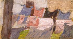 Franz Marc: Flatternde Wäsche im Wind