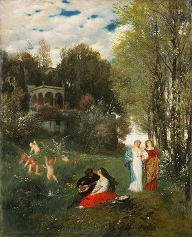 Arnold Böcklin: Ideale Frühlingslandschaft