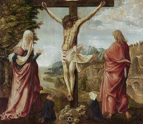 Albrecht Altdorfer: Christus am Kreuz mit Maria und Johannes