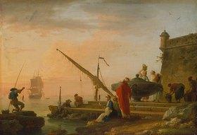 Claude Joseph Vernet: Orientalischer Seehafen bei Sonnenaufgang