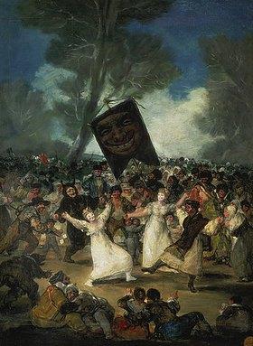 Francisco José de Goya: Das Begräbnis der Sardine. Karnevalsszene