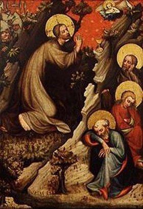 Meister des Altars von Wittingau: Christus im Garten Gethsemane