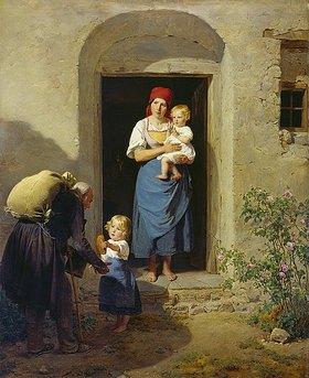 Ferdinand Georg Waldmüller: Kind, Almosen spendend