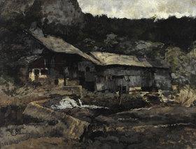 Carl Schuch: Wassermühle bei Saut du Doubs