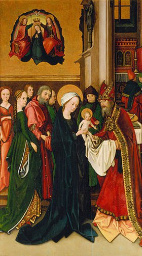 Hans Holbein d.Ä.: Die Beschneidung des Jesusknaben. Weingartner Altar im Dom zu Augsburg