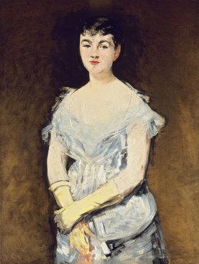 Edouard Manet: Portrait von Mademoiselle Isabelle Lemonnier (Junge Frau in einem Abendkleid)