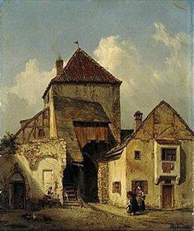 Karl Boegler: Stadttor in Essing
