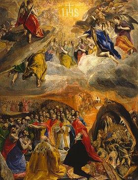 Greco El (Dom.Theotokopoulos): Die Anbetung und Verherrlichung des Namens Jesu (sogen.Traum Philipps II.)