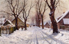 Walter Moras: Winter im Dorf