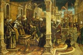 Hans Burgkmair d.Ä.: Esther bittet Ahasver um die Errettung des jüdischen Volkes