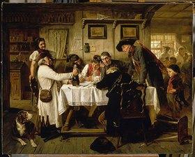 Friedrich Peter Hiddemann: Die Flasche Sekt