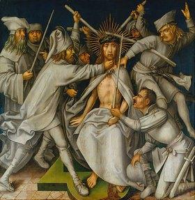 Hans Holbein d.Ä.: Sogenannte Graue Passion: Dornenkrönung Christi