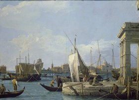 Canaletto (Giov.Antonio Canal): Die Dogana in Venedig