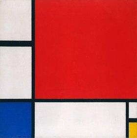 Piet Mondrian: Komposition mit Rot, Gelb und Bl