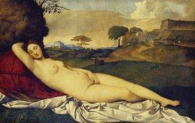 Giorgione (G.da Castelfranco): Schlummernde Venus