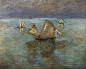 Claude Monet: Fischerboote bei Pourville. / Barques de Peche a Pourville