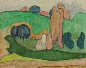 Emile Bernard: Landschaft bei Pont-Aven