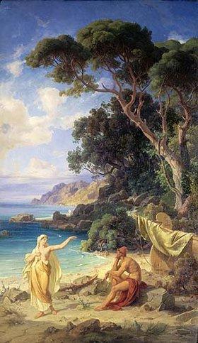 Friedrich Preller d.Ä.: Odysseus nimmt Abschied von Kalypso