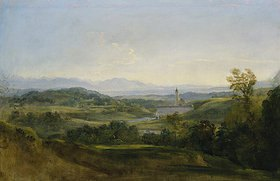 Johann Georg von Dillis: Blick auf Dietramszell. Vor
