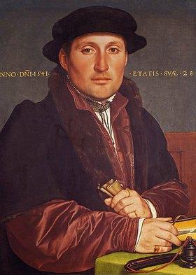 Hans Holbein d.J.: Bildnis eines jungen Kaufmanns (angebl. Hans von Muffel aus Nürnberg)