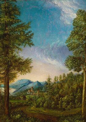 Albrecht Altdorfer: Donaulandschaft mit Schloß Wörth bei Regensburg