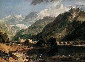 Joseph Mallord William Turner: Bonneville (Savoyen) mit Mont Blanc
