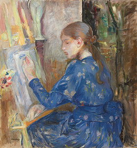 Berthe Morisot: Junges Mädchen an der Staffelei