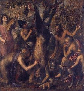 Tizian (Tiziano Vecellio): Apollo bestraft Marsyas