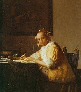 Jan Vermeer van Delft: Junges briefschreibendes Mädchen
