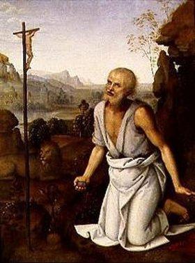 Perugino (Pietro Vanucci): Der büßende hl.Hieronymus
